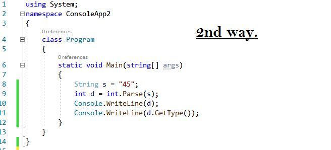 Convert String to Integer in C#
