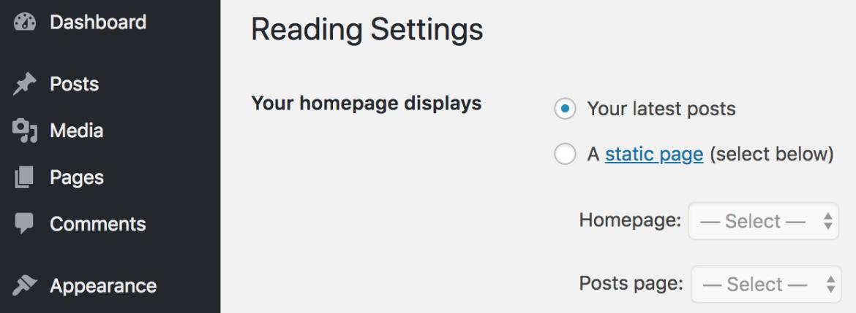 WordPress'te Ana Sayfa Nasıl Oluşturulur