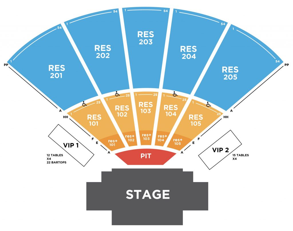 hight resolution of seating chart