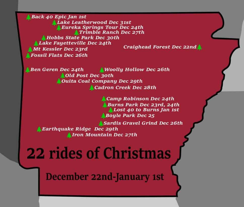 The-22-Rides-of-Christmas | Ozark Cycling Adventures | Cycling ...