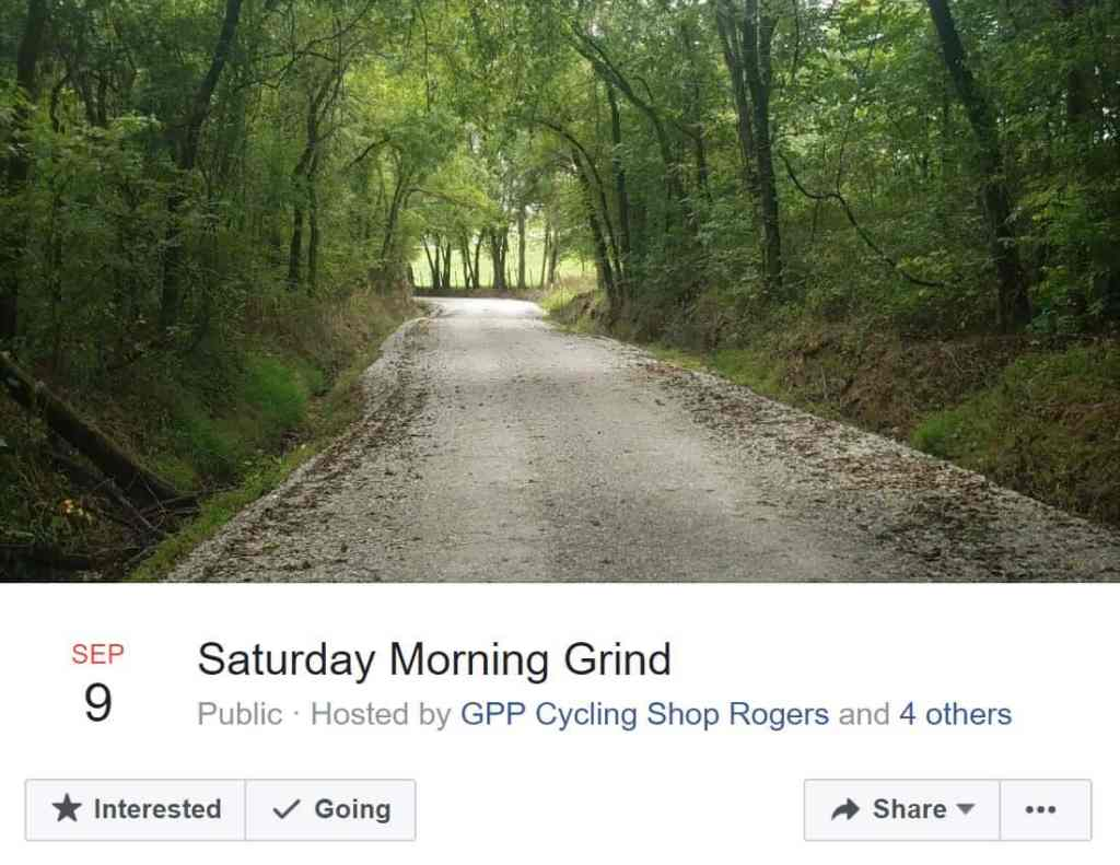 Weekend Ride Notification 9/8 - Ozark Cycling Adventures, Cycling news and Routes in Northwest Arkansas NWA