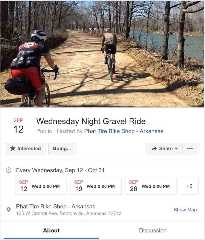 Group Rides & Events - Ozark Cycling Adventures, Cycling news and Routes in Northwest Arkansas NWA