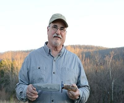 """Jim Crowell will teach  """"Knife Making"""" June 8th- 10th at the Arkansas Craft School"""