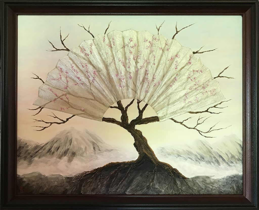 Ozarks Art Gallery | Life Renewed - Original Surreal Textured Painting by KJ Burk