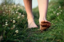 Barefoot-in-grass