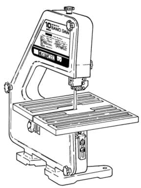 CRAFTSMAN 113.244513 10-Inch Band Saw Owner's and Parts