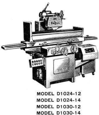 DoALL D618-D624-D824-D1024-D1030 Surface Grinders