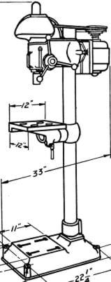 BUFFALO No. 18 Drill Press Instructions and Parts Manual