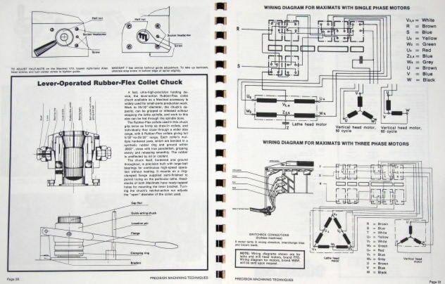 3 phase 220v wiring diagram earthwork mass excel sheet emco-edelstaal maximat v10 & 7 lathe/mill operational technique manual | ozark tool manuals ...