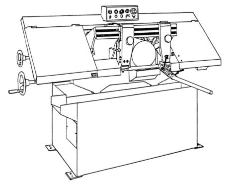 JET-Asian HBS-9M Horizontal Band Saw Instructions & Parts