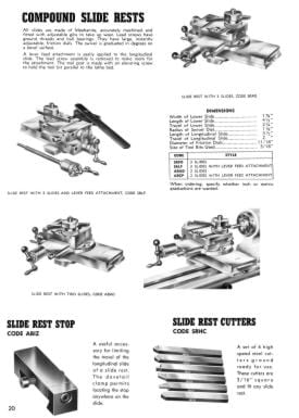 LEVIN Precision Watchmaker Lathes and Drills Catalog