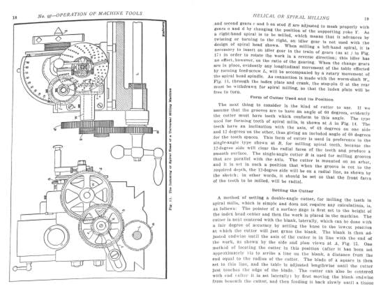 Operations Manual for Horizontal Milling Machine Part 2