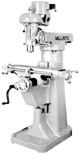 US BURKE Millrite MV1 Vertical Milling Machine Operator & Parts Manual | Ozark Tool Manuals