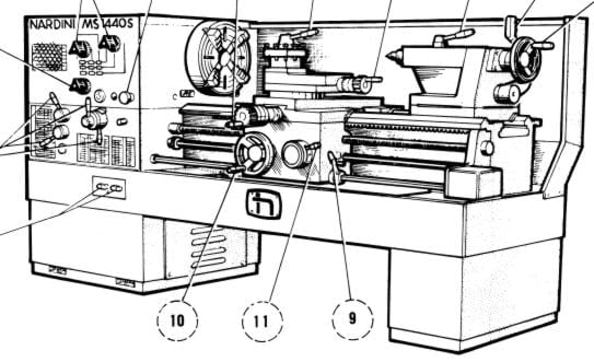NARDINI MS-1400/TR MS-1600/TR Metal Lathe Instructions