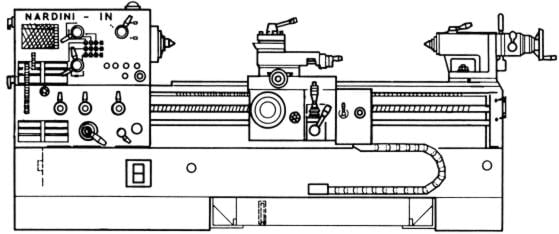 NARDINI IN 2000T 2500T Lathe Operator's Parts Manual