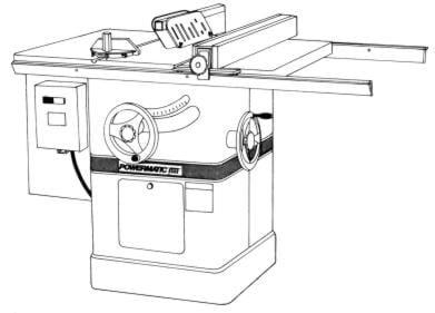 POWERMATIC 66 Table Saw Newer Instructions & Parts Manual