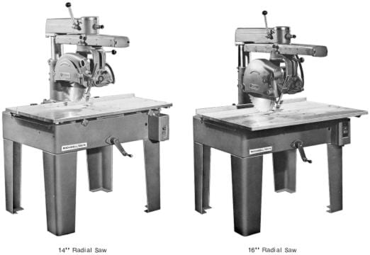 Radial Arm Saw Parts Diagram