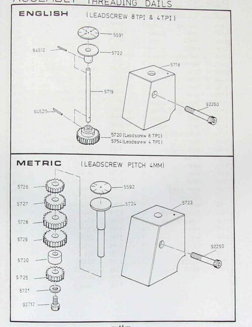 Metal Lathe 13x30 13x40 14x30 14x40 Instruction & Parts