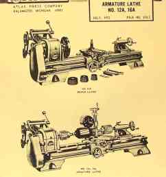 atlas craftsman 6 metal lathe no 618 instructions parts manual [ 1009 x 1362 Pixel ]