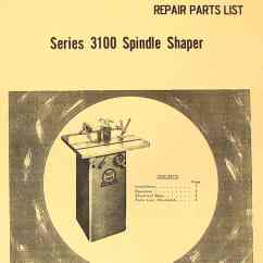 Crane Parts Diagram Drz400 Wiring Boice 3100 Series Spindle Shaper Instructions Manual Ozark Tool Manuals Books