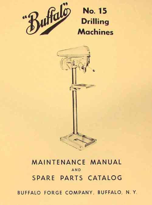 small resolution of buffalo no 15 drilling machine drill press instructions parts manual