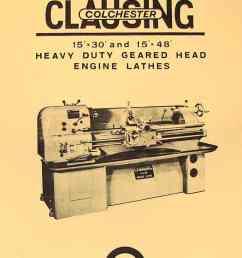 clausing colchester 15 x30 15 x48 metal lathe instruction part manual ozark tool manuals books [ 1009 x 1362 Pixel ]