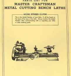 craftsman 101 07383 metal lathe parts manual  [ 1009 x 1362 Pixel ]