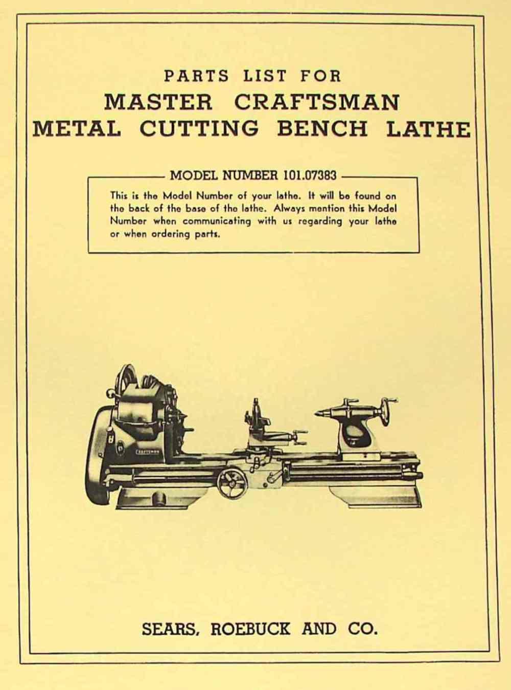 medium resolution of craftsman 101 07383 metal lathe parts manual