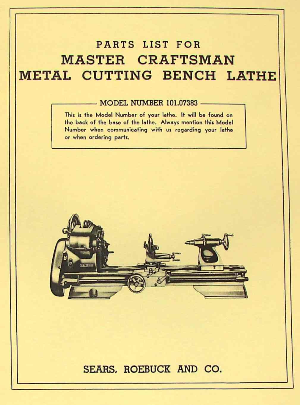 hight resolution of craftsman 101 07383 metal lathe parts manual