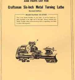 craftsman atlas 6 metal lathe 101 07301 owner s manual revised [ 1009 x 1362 Pixel ]