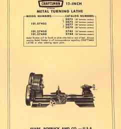 craftsman atlas 12 lathe 101 07403 101 27430 101 27440 parts manual [ 1009 x 1362 Pixel ]
