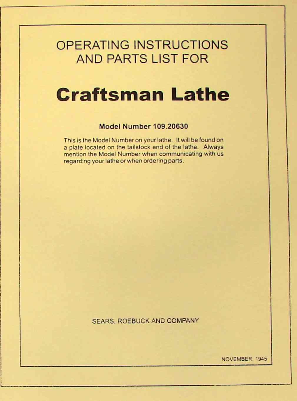 Mastercraft Wood Lathe 55 4508 Parts