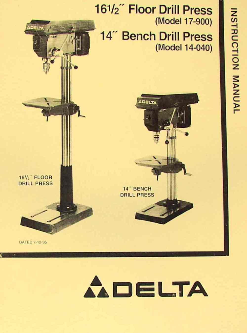 medium resolution of delta rockwell 17 900 14 040 16 5 drill press operator s parts delta drill press wiring diagram