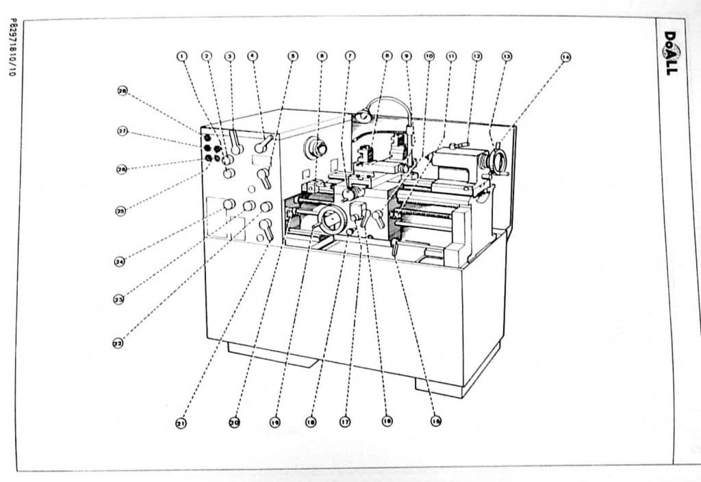 DoALL-ROMI Bridgeport Tormax 13-5 13 inch Metal Lathe