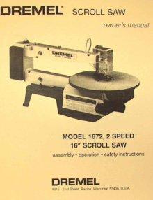 Dremel 1680 16 Quot Scroll Saw Operator S Amp Parts Manual