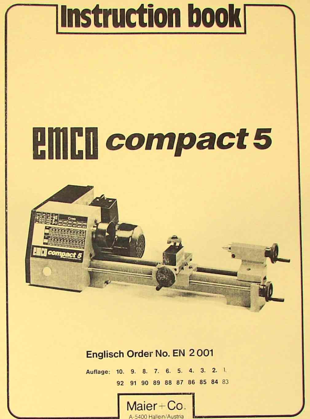hight resolution of emco compact 5 metal lathe instruction manual