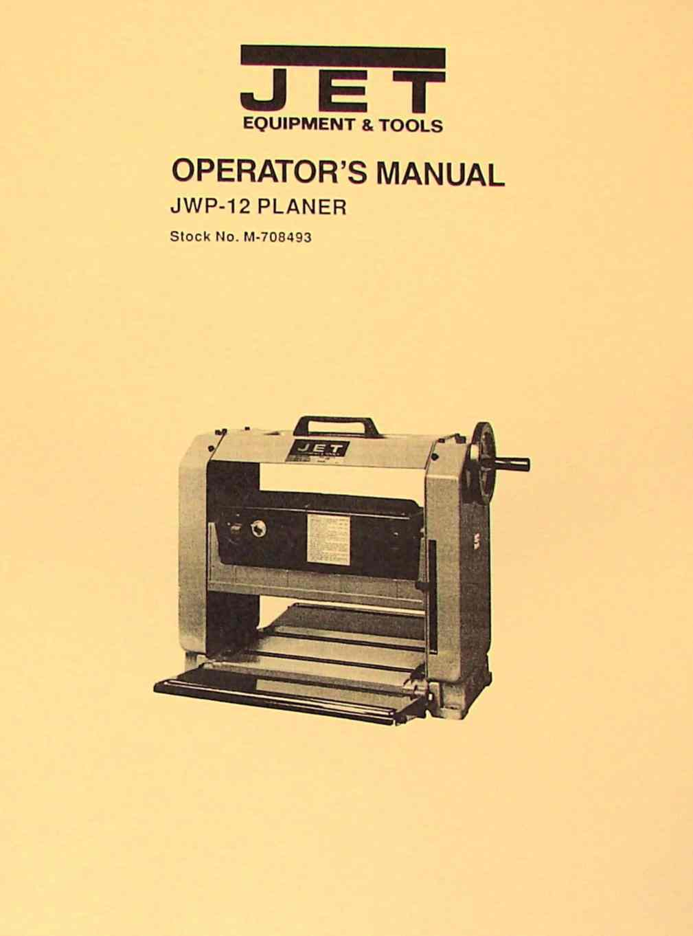 Reliant Jointer Manual