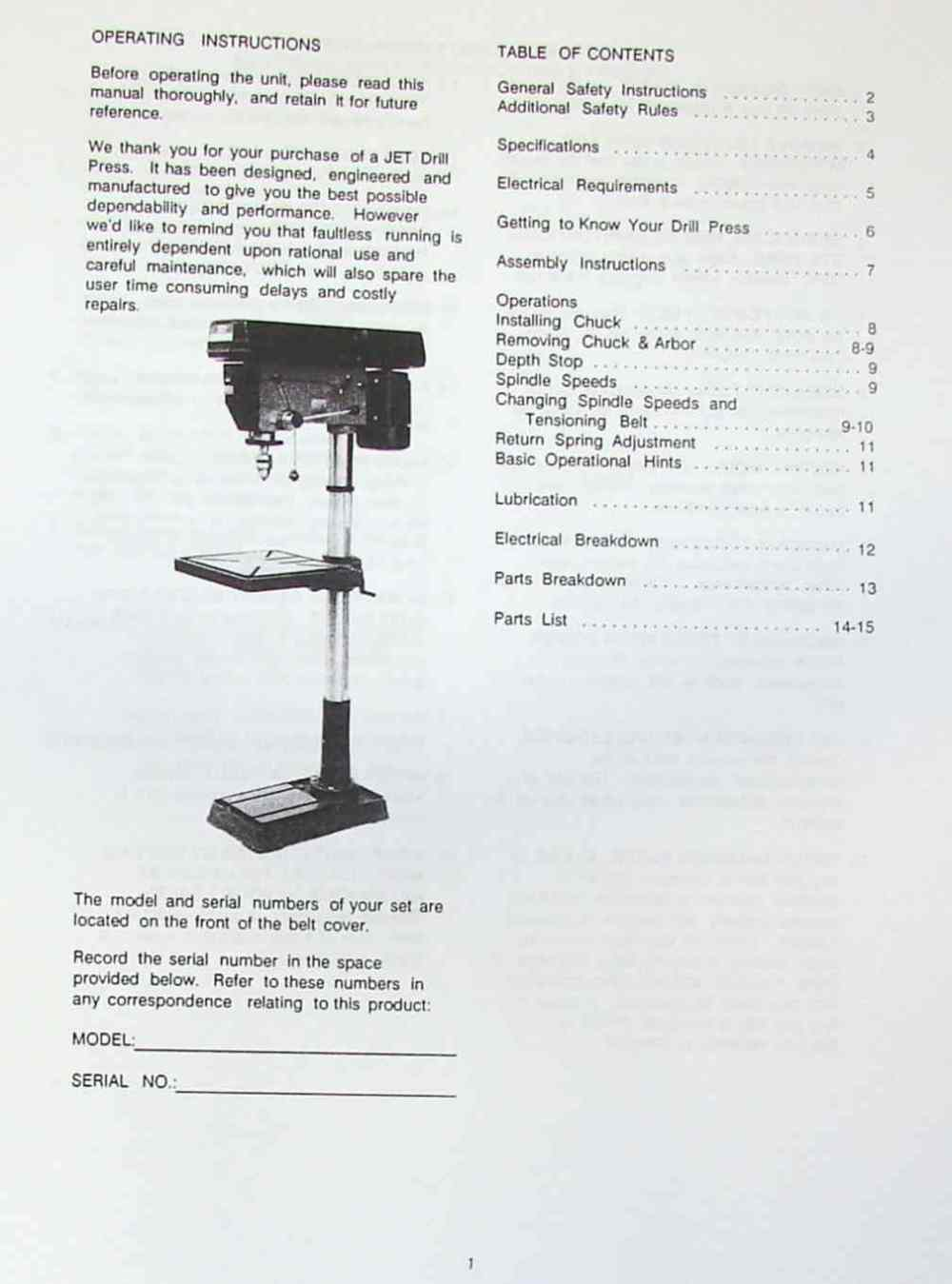 medium resolution of jet asian jdp 20mf 20 step pulley drill press operator s parts manual