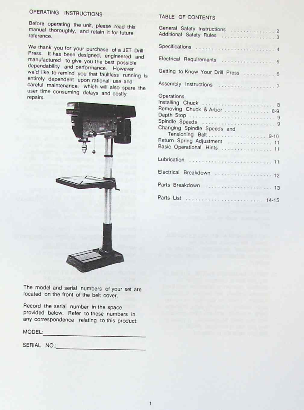 hight resolution of jet asian jdp 20mf 20 step pulley drill press operator s parts manual