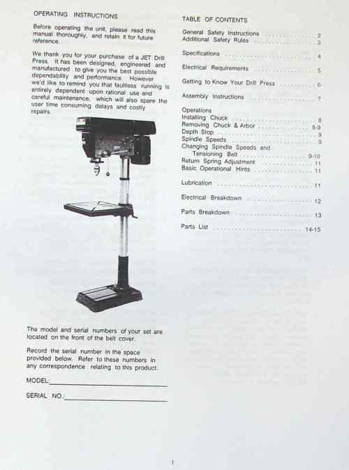 small resolution of jet asian jdp 20mf 20 step pulley drill press operator s parts manual