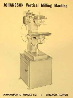 JOHANSSON Vertical Milling Machine Parts Manual | Ozark