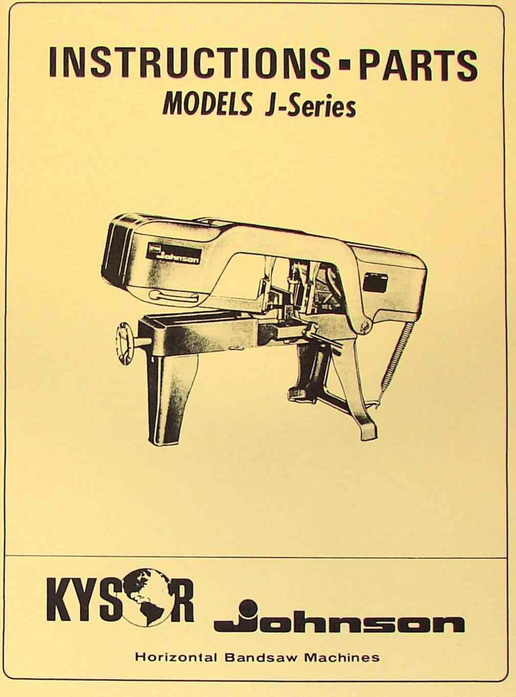 Johnson Model J Bandsaw Parts