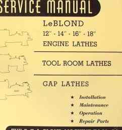 leblond 12 14 16 18 engine metal lathe operator parts manual [ 1009 x 1362 Pixel ]