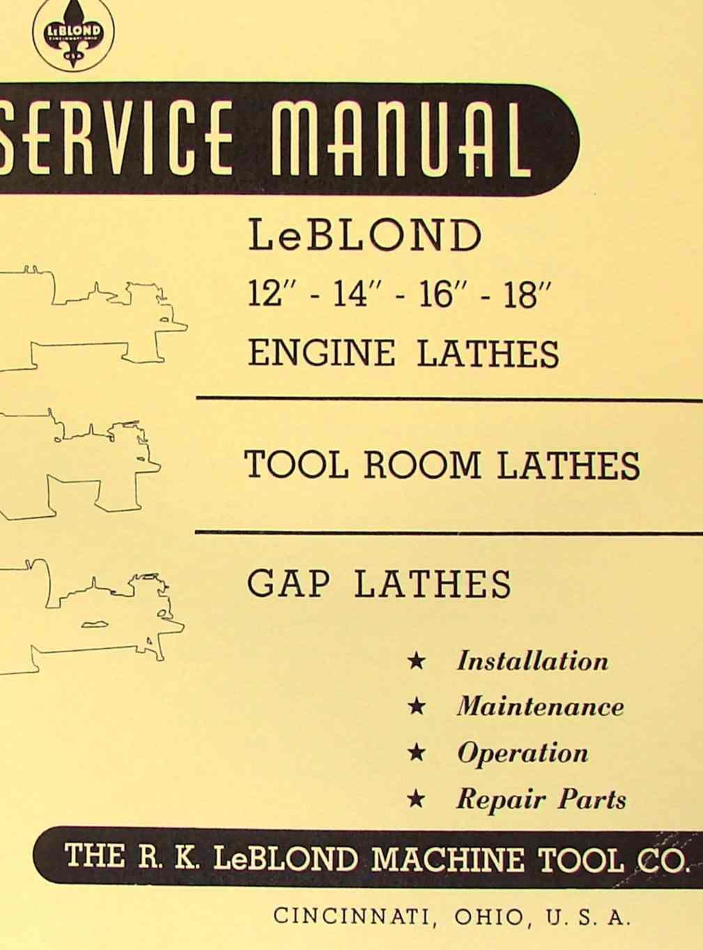 hight resolution of leblond 12 14 16 18 engine metal lathe operator parts manual