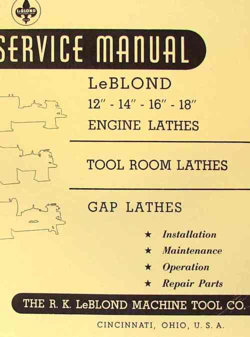 small resolution of leblond 12 14 16 18 engine metal lathe operator parts manual