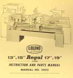 leblond regal 13 15 17 19 lathe manual 3903 ozark tool manuals leblond lathe wiring diagram [ 1009 x 1362 Pixel ]