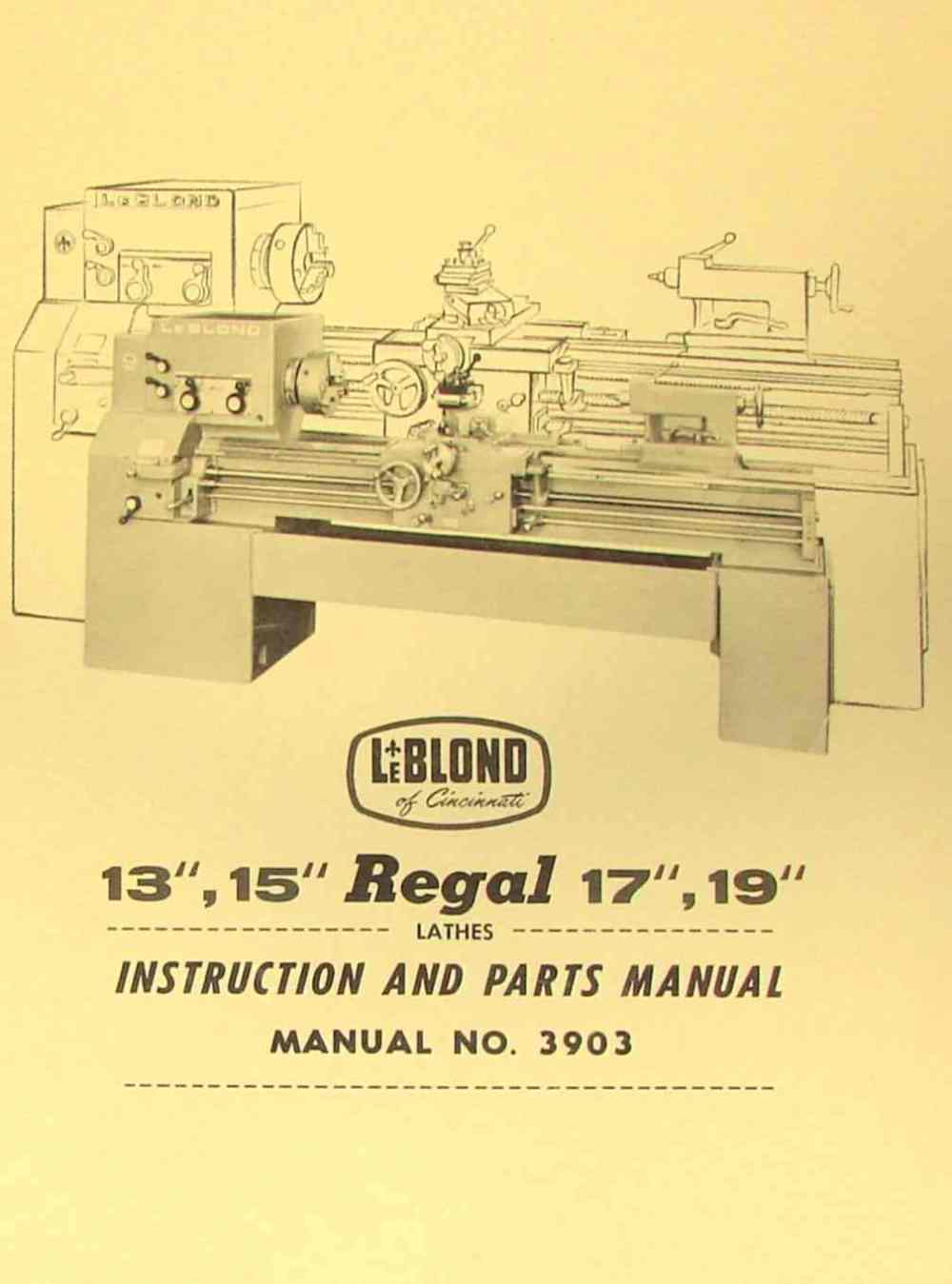 medium resolution of leblond regal 13 15 17 19 lathe manual 3903 ozark tool manuals leblond lathe wiring diagram