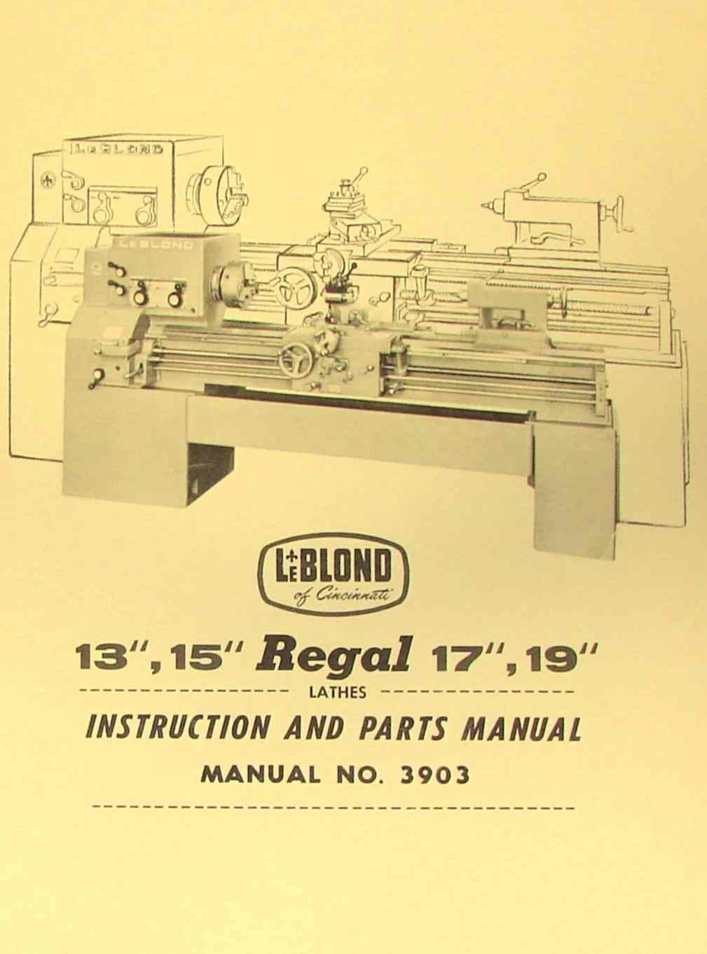 hight resolution of leblond regal 13 15 17 19 lathe manual 3903 ozark tool manuals leblond lathe wiring diagram