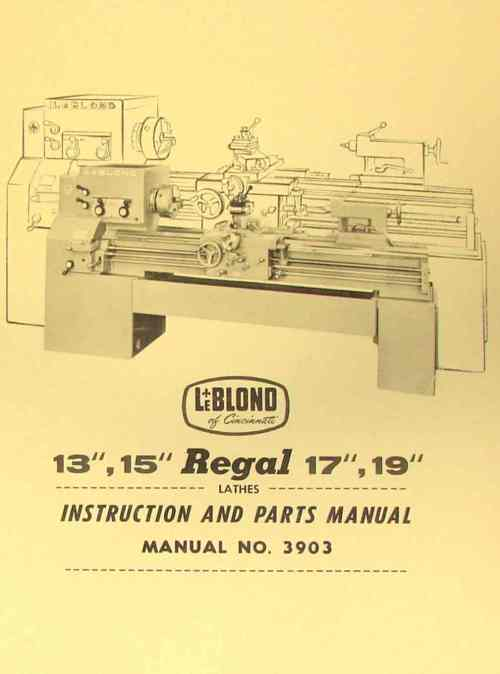 small resolution of leblond regal 13 15 17 19 lathe manual 3903 ozark tool manuals leblond lathe wiring diagram