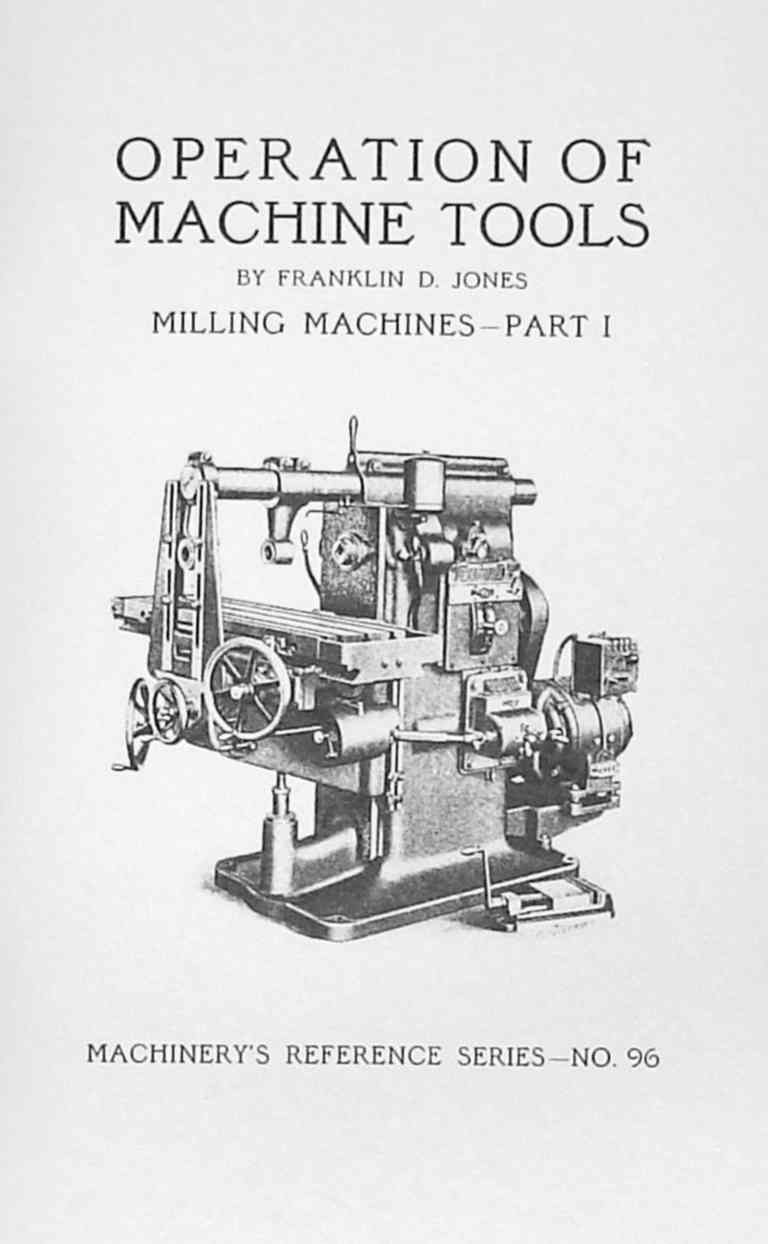 Operations Manual for Horizontal Milling Machine Part 1